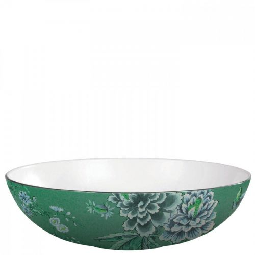 Jasper Conran Chinoiserie Green Oval Serving Bowl 30.5cm